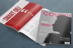 Free PSD Mockup – 4K Magazine on Behance-1