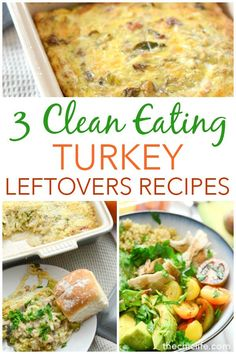Healthy full flavor leftover turkey recipes are possible! Try these 3 Clean Eating Leftover Turkey Recipes for breakfast, lunch, and dinner. These nutritious recipes are delicious and easy! Healthy Turkey Recipes, Healthy Holiday Recipes, Potluck Recipes, Easy Recipes, Keto Recipes, Dinner Recipes, Thanksgiving Leftover Recipes, Thanksgiving Ideas, Thanksgiving Leftovers