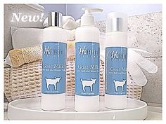 Feed your skin with our new creamy, nutrient rich Goat Milk daily Body Wash.  (Goat Milk, Shea Butter, Aloe Vera, Vitamin E). Paraben FREE. HWLuxury.com/bath-care/
