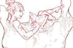 pirate, woman, captain, maps, treasure, bath, bubble, manga, anime