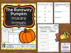 The Runaway Pumpkin is a GREAT fall mentor text to use with your second, third, or fourth grade class! Teach cause and effect, sequencing, and more! It's perfect for Halloween! Freebies to accompany the book!
