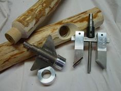 """The E-Z Log Tenon Cutter is easily adjustable to cut    1"""" up to 2.5"""" diameter tenons at the ends of logs and branches for building log furniture, railings, and other rustic log projects."""