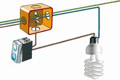 Accensione di un punto luce con un interruttore Electrical Projects, Electrical Installation, Electrical Engineering, Electronics Basics, Electronics Projects, Kids Electronics, Piping And Instrumentation Diagram, 3 Way Switch Wiring, Electrical Wiring Diagram