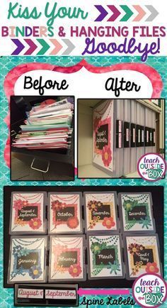 For The B Girls' school work - NO MORE messy hanging files and bulky binders! It's a game changer for classroom organization! Use project or document cases to organize your classroom essentials. Classroom Organisation, Teacher Organization, Teacher Hacks, Classroom Management, Organized Teacher, Behavior Management, File Folder Organization, School Office Organization, Lesson Plan Organization