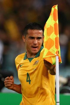 Tim Cahill. Socceroos v South Africa 26 May 2014.