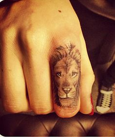 Cara Delevingne's Lion Tattoo - looks like Aslan// I don't even want a tattoo but this is awesome.