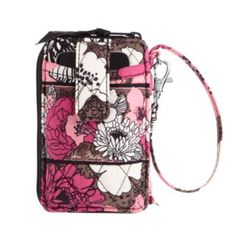Carry it All Wristlet in Mocha Rouge.  Holds my phone, cards, cash and has a zippered coin pouch.  This is perfect for running errands.  Just grab and go.
