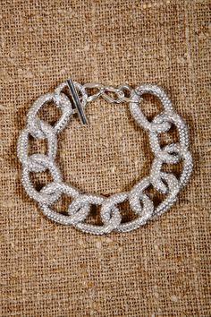 Vintage Jewelry Silver Heavy Chain Bracelet