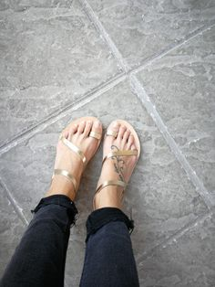 GreekLeatherLab on Etsy. Handcrafted leather sandals. #greekleatherlab