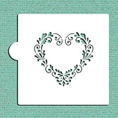 Our delft heart fits a inch heart shape and gives your cookie a hand-painted look. Use it for your cookies, note cards and crafts. Cake Stencil, Stencil Art, Stencil Designs, Craft Stencils, Delft, Heart Stencil, Heart Cookies, Types Of Craft, Valentines Day Hearts