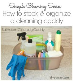 How to stock ~~ and organize a cleaning caddy