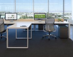 fancy efficient bright open concept office space comes with rectangle white tables modern chairs and bright modern office space
