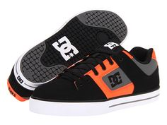 DC Pure Black/Fluorescent Orange - Zappos.com Free Shipping BOTH Ways