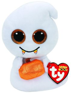 a9a91f74ceb Details about TY Beanie Boo - SCREAM the Ghost (Glitter Eyes) (Regular Size  - 6 inch) 37236