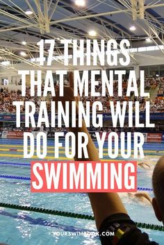 Not sure about how mental training can help benefit your swimming? Here are 17 ways that a better mindset will help you swim faster this season. Best Swimming Workouts, Swimming Drills, Swimming Memes, Competitive Swimming, Swimming Tips, Swim Workouts, Triathlon Swimming, Swimming World, I Love Swimming