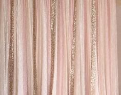 Pink white Lace fabric Gold Sparkle photobooth backdrop Wedding ceremony stage,birthday,baby shower backdrop party curtain nursery decor