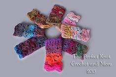 Ravelry: Fancy Schmancy Wrist Cuffs Fingerless Gloves pattern by The Perfect Knot - Michelle Kovach