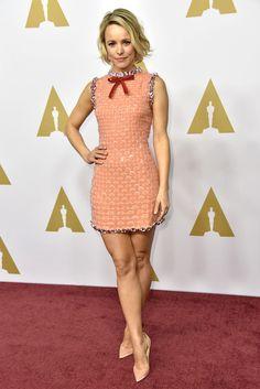 Rachel McAdams in Prada at 88th Academy Awards Nominees Luncheon, Los Angeles, America – 08 Feb 2016