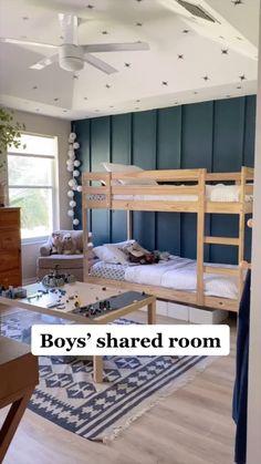 Big Boy Bedrooms, Big Girl Rooms, Kids Bedroom Boys, Little Boy Bedroom Ideas, Pink Bedrooms, Boys Bedroom Decor, Boy Rooms, Kids Rooms, Shared Boys Rooms