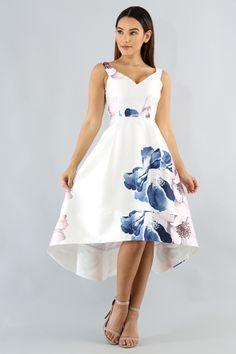 Floral Taffeta Dress