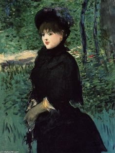 Manet  ( I LOVE the way he used such dark colors against flawless skin)  Light and dark...perfect.