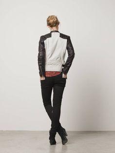 Biker jacket with leather sleeves - Jackets - Scotch & Soda Online Shop