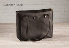 A leather tote bag for women features room for a laptop and plenty more. Constructed with luxurious full-grain leather and guaranteed for 25 years. Carry your devices in safety and style. Black Leather Tote, Leather Purses, Laptop Tote, Work Wardrobe, Womens Tote Bags, Bucket Bag, Gifts, Gift Ideas, Holiday