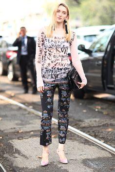 Milan Fashion Week Street Style Spring 2013