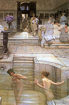 Sir Lawrence Alma-Tadema 'A Favourite Custom' 1909