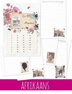 Idees Tydskrif   Augustus 2015 – Ideas/Idees Paper Goods, Life Is Beautiful, Scrapbook, Photo Wall, Ideas Magazine, Frame, How To Make, Printables, Vintage