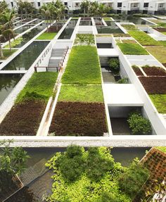 WOHA, Intercontinental Sanya resort with an impressive rooftop #roof #garden #design