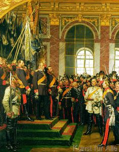 Anton Alexander von Werner - Die Proklamation des Deutschen Kaiserreichs im Spiegelsaal zu Versailles am 18. Januar 1871