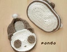 Panda Baby Booties Crochet PATTERN ..
