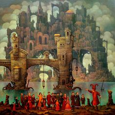 "Michael Hutter,     -   ""Satan, showing his City to the Children"""