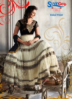 Suvingo Gmbh brings classic romance anarkali suits from Royal Rakul Preet exclusively for you. Feel the radiance of a princess.