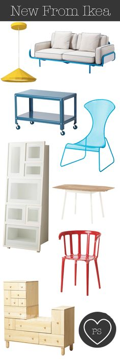 Ikea PS 2012 Easy Chair in bright blue, out UK Ireland in May.