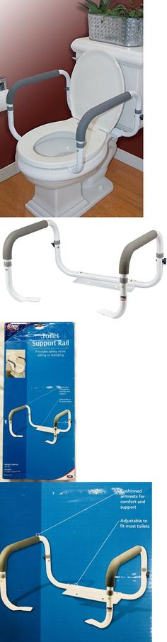 Handles and Rails 171537: Carex Toilet Support Assistance Device Rails Steel With Adjustable Width -> BUY IT NOW ONLY: $17.99 on eBay!