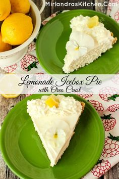 Sweet, tart and creamy, this Lemonade Icebox Pie only takes 10 minutes and 5 ingredients. It is a summer home run with whipped cream or strawberry sauce. No Bake Desserts, Just Desserts, Delicious Desserts, Dessert Recipes, Yummy Food, Fruit Recipes, Bar Recipes, Frozen Desserts, Snack Recipes