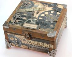 100+ likes! Handmade wooden Steampunk box