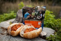 5 mountain house food hacks: spaghetti and meatballs sub. Hiking Food, Backpacking Food, Camping Meals, Camping Hacks, Ultralight Backpacking, Camping Stuff, Chicken Breast Recipes Healthy, Healthy Meals For Two, Healthy Recipes