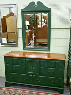 green dresser | ... Furniture For Kid Bedroom Decoration With Dark Green Wooden Dresser