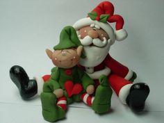 Polymer Clay Santa & Elf