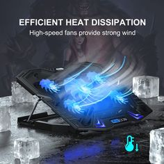 TopMate Gaming laptop cooling pad has 5 fans super strong wind fan. It prevents your laptop, Xbox, Ps4 & Network Device from overheating under different use situations. Wind Fan, Laptop Cooling Pad, Strong Wind, Ps4, Xbox, Gaming, Fans, Ps3, Videogames