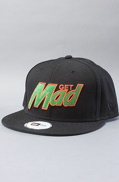 31e2cb92428 The Get Mad New Era Snapback Cap in Black New Era Snapback