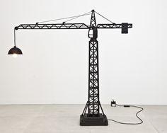 Carpenters Workshop Gallery | Works STUDIO JOB CRANE LAMP 2010 Cast Bronze, Light Fittings Limited Edition of 6 + 1AP H 163 / L 162 / W 39 (cm) H 64.2 / L 63.8 / W 15.4 (inches