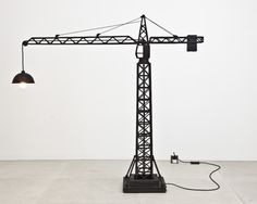 Carpenters Workshop Gallery | Works STUDIO JOB CRANE LAMP 2010 Cast Bronze, Light Fittings Limited Edition of 6 + 1AP H 163 / L 162 / W 39 (cm) H 64.2 / L 63.8 / W 15.4 (inches