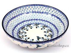 New design BOWL . This Traditional Handmade Polish Pottery dessert bowl is from ELIMAshop.cz . (27/8 cm ) . It was handpainted in Boleslawiec   ( Bunzlau ) . ceramics . stoneware . ( mísa nízká 27/8 cm )