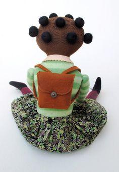 school girl - love her hair!