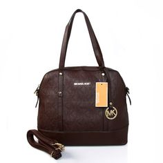 Fashion Michael Kors Logo In Signature Medium Coffee Totes Online!
