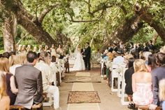 I love this wedding under the trees!  {Style Me Pretty}